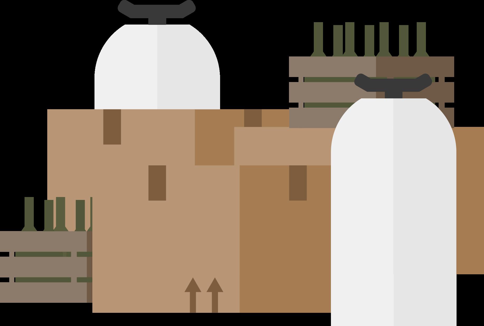 Illustrasjon av ølbokser, flasker og key kegs